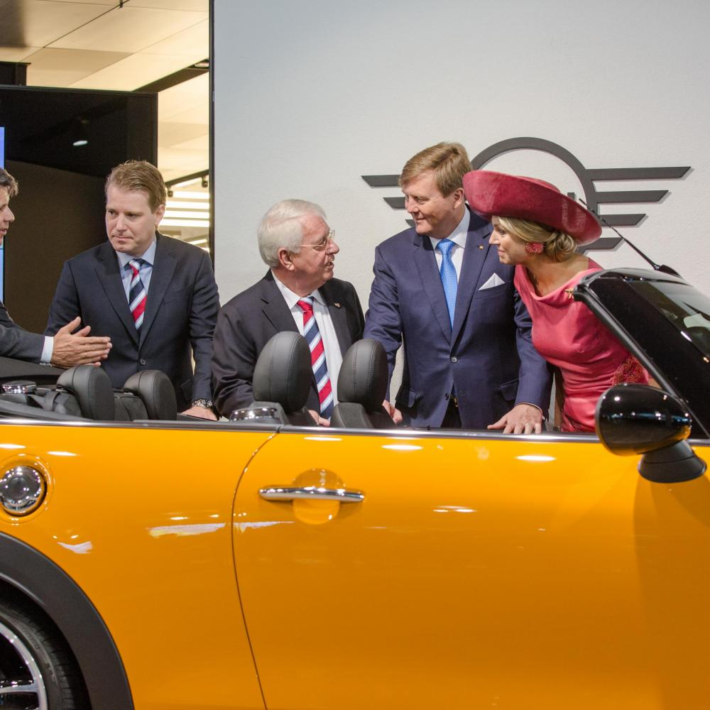 Wim and Willem van der Leegte accompany Royal Couple during a visit to BMW